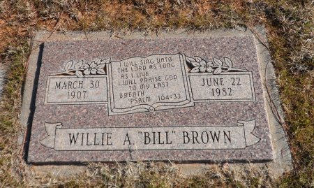 BROWN, WILLIAM AMOS - Parker County, Texas | WILLIAM AMOS BROWN - Texas Gravestone Photos