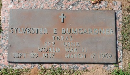 BUMGARDNER (VETERAN WWII), SYLVESTER EDWARD - Parker County, Texas | SYLVESTER EDWARD BUMGARDNER (VETERAN WWII) - Texas Gravestone Photos