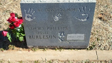 PHILLIPS BURLESON, NORMA - Parker County, Texas | NORMA PHILLIPS BURLESON - Texas Gravestone Photos
