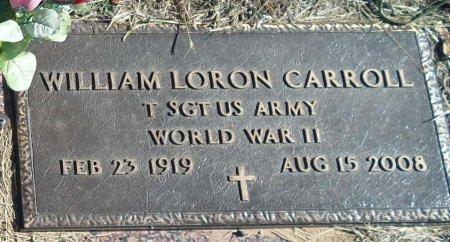 CARROLL (VETERAN WWII), WILLIAM LORON - Parker County, Texas | WILLIAM LORON CARROLL (VETERAN WWII) - Texas Gravestone Photos