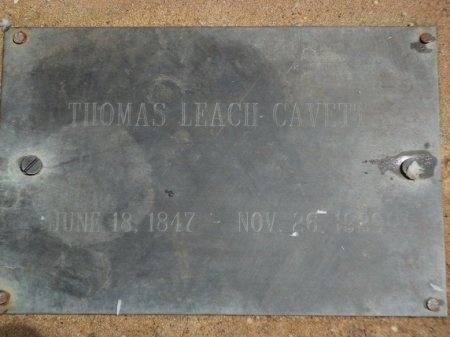 CAVETT, THOMAS LEACH - Parker County, Texas | THOMAS LEACH CAVETT - Texas Gravestone Photos