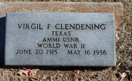 CLENDENING (VETERAN WWII), VIRGIL FRANKLIN - Parker County, Texas   VIRGIL FRANKLIN CLENDENING (VETERAN WWII) - Texas Gravestone Photos