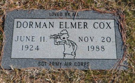 COX, DORMAN ELLMER - Parker County, Texas   DORMAN ELLMER COX - Texas Gravestone Photos