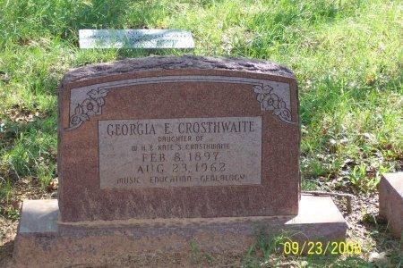 CROSTHWAITE, GEORGIA E. - Parker County, Texas | GEORGIA E. CROSTHWAITE - Texas Gravestone Photos