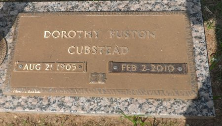 FUSTON CUBSTEAD, DOROTHY RUTH - Parker County, Texas | DOROTHY RUTH FUSTON CUBSTEAD - Texas Gravestone Photos