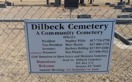 *DILBECK CEMETERY SIGN,  - Parker County, Texas |  *DILBECK CEMETERY SIGN - Texas Gravestone Photos