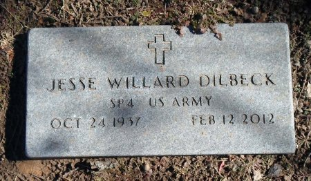 DILBECK (VETERAN), JESSE WILLARD - Parker County, Texas | JESSE WILLARD DILBECK (VETERAN) - Texas Gravestone Photos