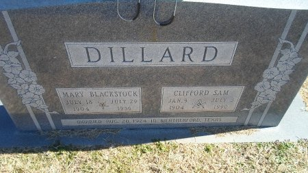 DILLARD, MARY - Parker County, Texas | MARY DILLARD - Texas Gravestone Photos