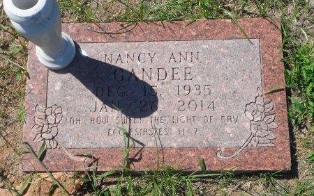 RICHARDS GANDEE, NANCY ANN - Parker County, Texas   NANCY ANN RICHARDS GANDEE - Texas Gravestone Photos
