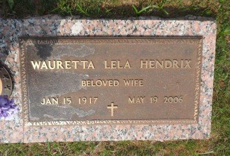 HENDRIX, WAURETTA LELA - Parker County, Texas | WAURETTA LELA HENDRIX - Texas Gravestone Photos