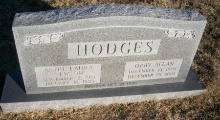 HODGES, ORBY ALLAN - Parker County, Texas | ORBY ALLAN HODGES - Texas Gravestone Photos