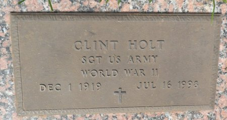 HOLT (VETERAN WWII), ELGIE CLINT - Parker County, Texas | ELGIE CLINT HOLT (VETERAN WWII) - Texas Gravestone Photos