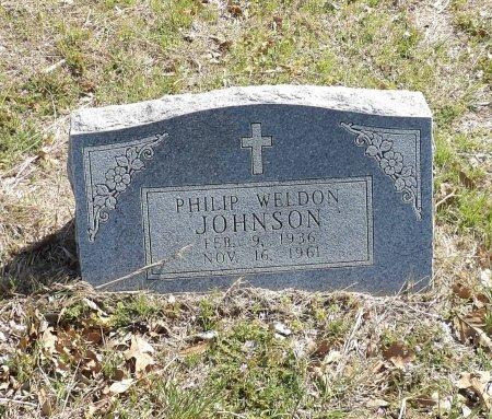 JOHNSON, PHILIP WELDON - Parker County, Texas | PHILIP WELDON JOHNSON - Texas Gravestone Photos