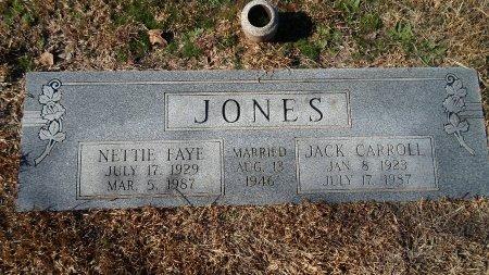 JONES, NETTIE FAYE - Parker County, Texas | NETTIE FAYE JONES - Texas Gravestone Photos