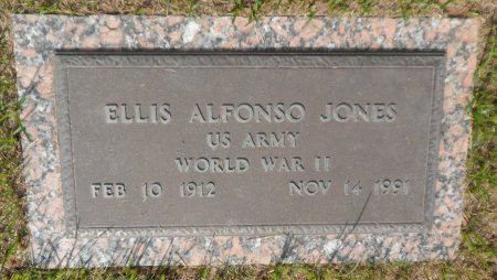 JONES (VETEREAN WWII), ELLIS ALFONSO - Parker County, Texas   ELLIS ALFONSO JONES (VETEREAN WWII) - Texas Gravestone Photos