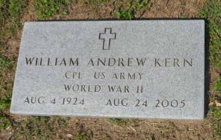 KERN (VETERAN WWII), WILLIAM ANDREW - Parker County, Texas | WILLIAM ANDREW KERN (VETERAN WWII) - Texas Gravestone Photos