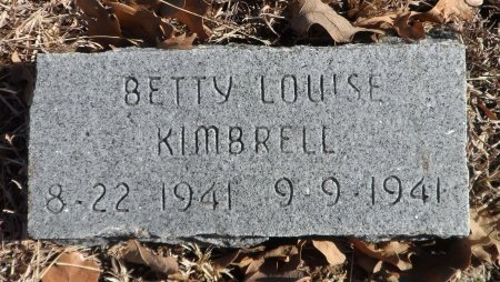 KIMBRELL, BETTIE LOUISE - Parker County, Texas | BETTIE LOUISE KIMBRELL - Texas Gravestone Photos