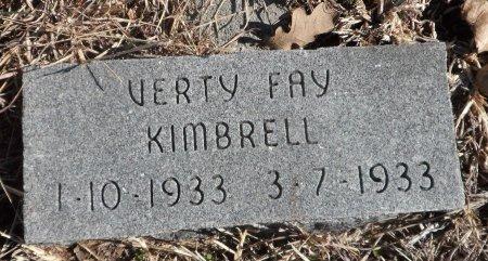 KIMBRELL, VESTRY FAY - Parker County, Texas | VESTRY FAY KIMBRELL - Texas Gravestone Photos