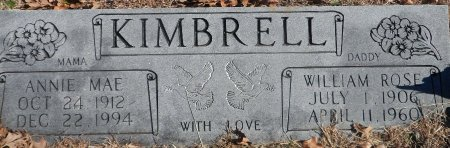 KIMBRELL, WILLIAM ROSE - Parker County, Texas | WILLIAM ROSE KIMBRELL - Texas Gravestone Photos