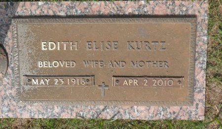 SHAFER KURTZ, EDITH ELISE - Parker County, Texas | EDITH ELISE SHAFER KURTZ - Texas Gravestone Photos