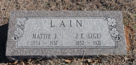 LAIN LAIN, MARTHA JANE - Parker County, Texas | MARTHA JANE LAIN LAIN - Texas Gravestone Photos