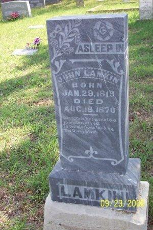 LAMKIN, JOHN HARVEY - Parker County, Texas | JOHN HARVEY LAMKIN - Texas Gravestone Photos