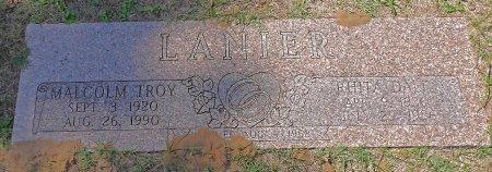 LANIER, MALCOLM TROY - Parker County, Texas   MALCOLM TROY LANIER - Texas Gravestone Photos
