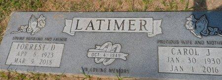 LATIMER, CAROL JANE - Parker County, Texas   CAROL JANE LATIMER - Texas Gravestone Photos