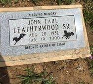 LEATHERWOOD, JOHN EARL - Parker County, Texas | JOHN EARL LEATHERWOOD - Texas Gravestone Photos