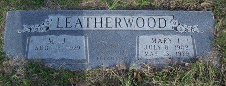 LEATHERWOOD, MARY I. - Parker County, Texas | MARY I. LEATHERWOOD - Texas Gravestone Photos