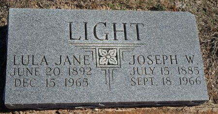 LIGHT, LULA JANE - Parker County, Texas   LULA JANE LIGHT - Texas Gravestone Photos