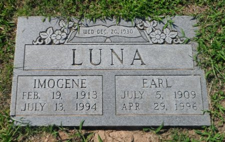 LOVELACE LUNA, IMOGENE - Parker County, Texas | IMOGENE LOVELACE LUNA - Texas Gravestone Photos