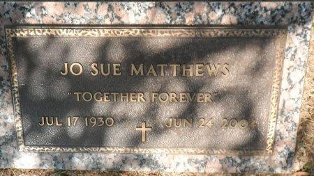 MATTHEWS, JO SUE - Parker County, Texas | JO SUE MATTHEWS - Texas Gravestone Photos