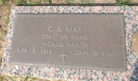 MAY (VETERAN  WWII), CARL A. - Parker County, Texas | CARL A. MAY (VETERAN  WWII) - Texas Gravestone Photos