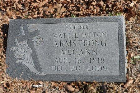ARMSTRONG MCCANN, MATTIE AFTON - Parker County, Texas | MATTIE AFTON ARMSTRONG MCCANN - Texas Gravestone Photos
