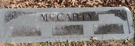 MCCARTY, GARLAND - Parker County, Texas   GARLAND MCCARTY - Texas Gravestone Photos