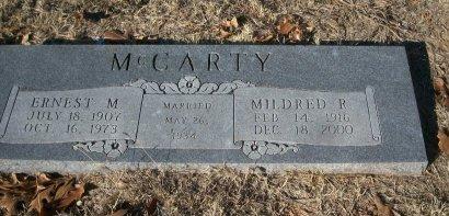 MCCARTY, ERNEST MORRIS - Parker County, Texas | ERNEST MORRIS MCCARTY - Texas Gravestone Photos