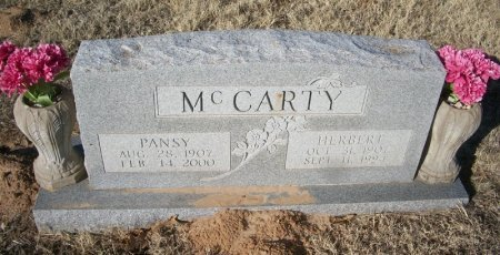 MCCARTY, PANSY - Parker County, Texas | PANSY MCCARTY - Texas Gravestone Photos