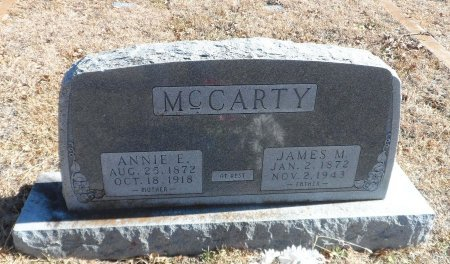 STEVENS MCCARTY, ANNIE ELIZABETH - Parker County, Texas | ANNIE ELIZABETH STEVENS MCCARTY - Texas Gravestone Photos
