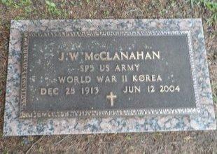 MCCLANAHAN (VETERAN 2WARS), JAMES WILLIAM - Parker County, Texas   JAMES WILLIAM MCCLANAHAN (VETERAN 2WARS) - Texas Gravestone Photos