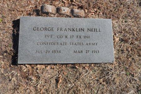 NEILL (VETERAN CSA), GEORGE FRANKLIN - Parker County, Texas | GEORGE FRANKLIN NEILL (VETERAN CSA) - Texas Gravestone Photos