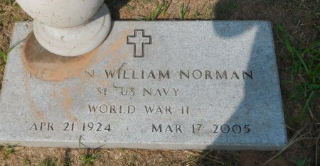 NORMAN (VETERAN WWII), HERMAN WILLIAM - Parker County, Texas | HERMAN WILLIAM NORMAN (VETERAN WWII) - Texas Gravestone Photos
