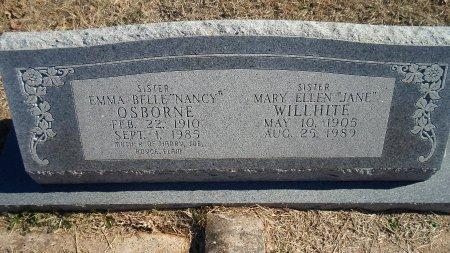 BROWN OSBORNE, EMMA BELLE - Parker County, Texas | EMMA BELLE BROWN OSBORNE - Texas Gravestone Photos
