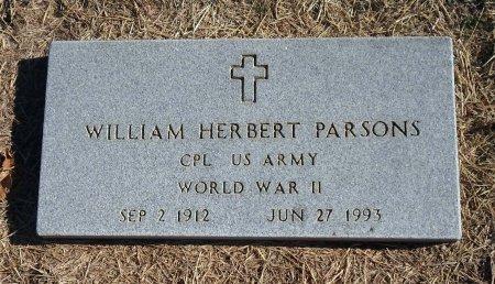 PARSONS (VETERAN WWII), WILLIAM HERBERT - Parker County, Texas | WILLIAM HERBERT PARSONS (VETERAN WWII) - Texas Gravestone Photos