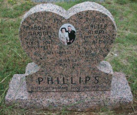 PHILLIPS, MAUDINE MAXINE - Parker County, Texas | MAUDINE MAXINE PHILLIPS - Texas Gravestone Photos