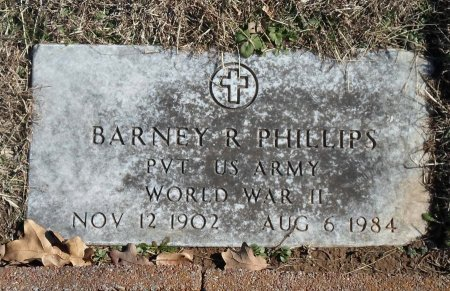 PHILLIPS (VETERAN WWII), BARNEY R. - Parker County, Texas   BARNEY R. PHILLIPS (VETERAN WWII) - Texas Gravestone Photos