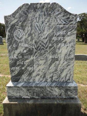 WOOD PIEARCE, ANNIE E. - Parker County, Texas | ANNIE E. WOOD PIEARCE - Texas Gravestone Photos