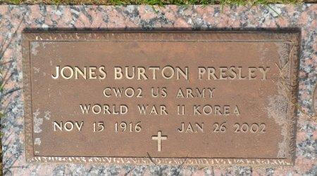 PRESLEY (VETERAN 2WARS), JONES BURTON - Parker County, Texas | JONES BURTON PRESLEY (VETERAN 2WARS) - Texas Gravestone Photos