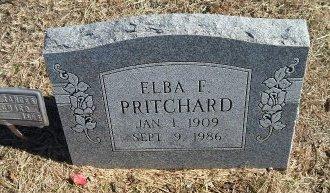 PRITCHARD, ELBA FRANCIS - Parker County, Texas   ELBA FRANCIS PRITCHARD - Texas Gravestone Photos