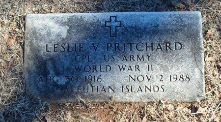 PRITCHARD(VETERAN WWII), LESLIE VERLE - Parker County, Texas | LESLIE VERLE PRITCHARD(VETERAN WWII) - Texas Gravestone Photos